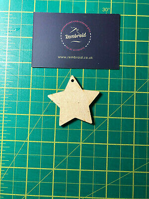 Wooden Star, Xmas Star, Crafts, Decorations, Embellishments MDF Shapes, Craft • 1£