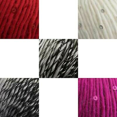 £2.50 • Buy CLEARANCE King Cole Galaxy Chunky Sequin Yarn 50g Balls - Choice Of Colours