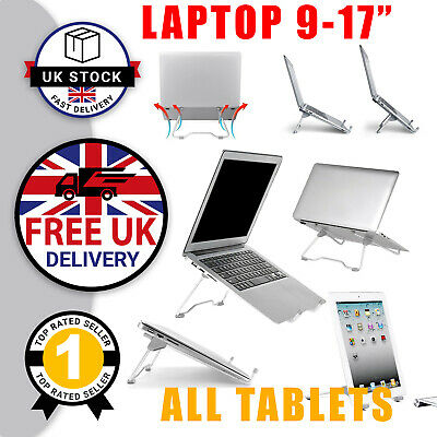 Laptop Stand For Apple MacBook Mac Air Dell Lenovo Acer Ergonomic Riser Stand UK • 6.97£