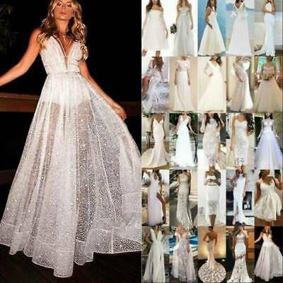 AU29.06 • Buy Womens White Formal Bridesmaid Wedding Dress Cocktail Evening Party Prom Gowns