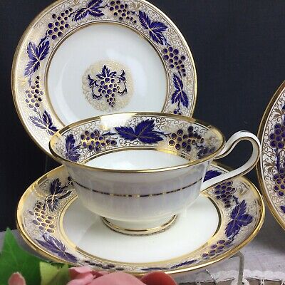 Mintons Grapes And Vines Cabinet Cup, Saucer And Plate K120 • 20£