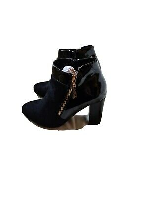 Wallis Ladies Boots Shoes SIZE 4  37 Black Heels New In Box  • 17.99£