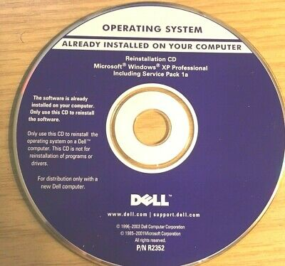 WIndows XP Pro Dell Install CD DVD Media • 10£