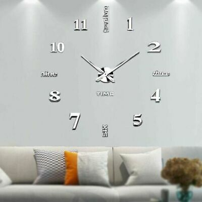 £5.89 • Buy DIY 3D Large Number Wall Clock Sticker Decor For Home Office Room UK