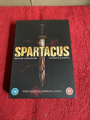 Spartacus Blood And Sand/ Gods Of The Arena (DVD, 2011, 6-Disc Set, Box Set) • 17.95£