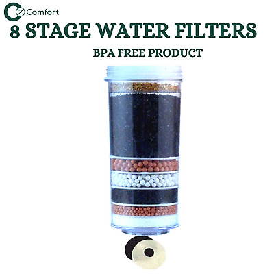 AU35 • Buy 8 Stage Water Filter Charcoal Activated KDF Replacement Cartridge BPA FREE