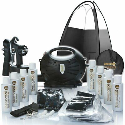 Rapidtan HVLP Airbrush Spray Tan Kit Tanning  Tent  Machine Solution Sticky Feet • 118.99£