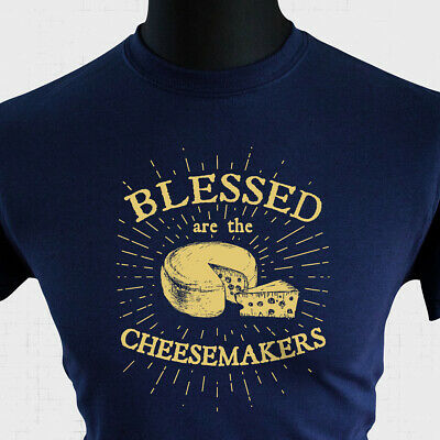 £10.99 • Buy Blessed Are The Cheesemakers Life Of Brian T Shirt 80's Monty Python Joke Blue