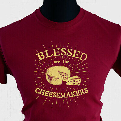 £10.99 • Buy Blessed Are The Cheesemakers Life Of Brian T Shirt 80's Monty Python Joke C Red