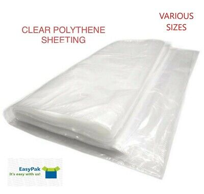 £8.95 • Buy Heavy Duty Clear Polythene Plastic Sheeting (Various Sizes Available) 500G