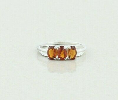 £34.78 • Buy Sterling Silver Madeira Citrine Band Ring Size 8 1/4