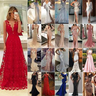 AU42.99 • Buy Women Long Maxi Formal Dress Wedding Bridesmaid Cocktail Evening Prom Ball Gowns