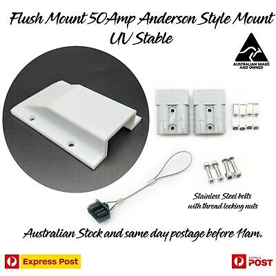 AU37.97 • Buy Anderson Plug Surface Mount Panel External SB50 50 Amp Caravan Canopy White