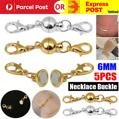 AU9.98 • Buy 5/10X Magnetic Lobster Clasp Hook Connector Buckle Necklace Bracelet Jewelry DIY