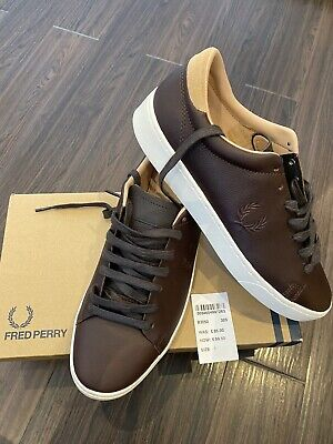 Fred Perry New Mens Premium Leather Casual Trainers Shoes RRP £85 Size 7 • 45£