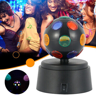£9.99 • Buy DJ Light Disco Ball Lamp Crystal Party Rotating LED Stage Lighting Club Battery