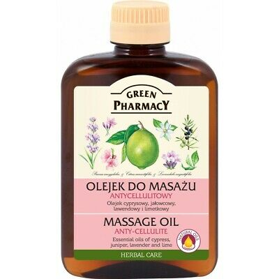 Green Pharmacy MASSAGE OIL Anty - Cellulite Essential Oil Herbal Care 200ml • 6.50£