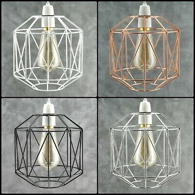 £12.89 • Buy Industrial Style Metal Wire Cage Retro Ceiling Pendant Lamp/light Shade Easy Fit