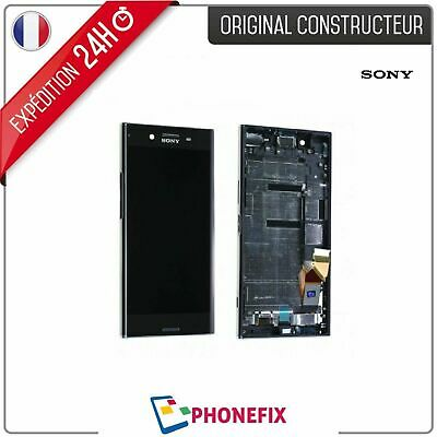 $ CDN147.67 • Buy LCD + TOUCH GLASS + CHASSIS For Sony Xperia XZ OEM - Original - Black / Black
