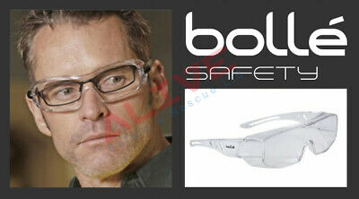 £8.99 • Buy Bolle Safety Glasses OVERLIGHT Over The Spectacles Anti-fog & Anti-scratch Lens