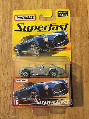 $6 • Buy Matchbox Superfast 2005 #16 1965 Shelby Cobra 427 S/C With Box 1 Of 15,500