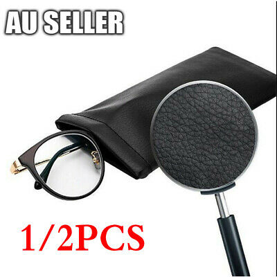 AU3.25 • Buy 1/2PCS Mouth Snapped Sunglasses Eyeglass Glasses Case Soft Pouch Shut Bag Pocket