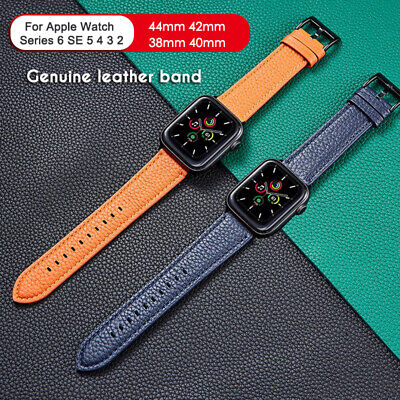 AU1.99 • Buy 40/44mm Genuine Leather Apple Watch Band For IWatch Series SE 6 5 4 3 2 1 38/42