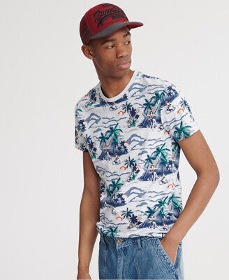 $16.43 • Buy Superdry Mens All Over Print Floral T-Shirt