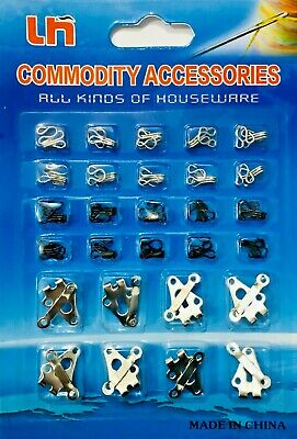 £2.69 • Buy 28pc ASSORTED HOOKS AND EYES FASTENERS SET FUR DRESS SKIRT BRA SEWING HOME NEW