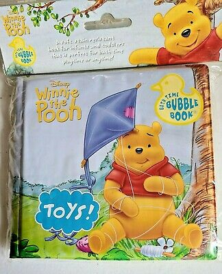 £7.61 • Buy DISNEY Winnie-the-Pooh TOYS Bath Time Bubble Book NIP For Infants & Toddlers