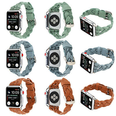 AU18.99 • Buy 40/44mm Genuine Leather Apple Watch Band For IWatch Series SE 6 5 4 3 2 1 38/42