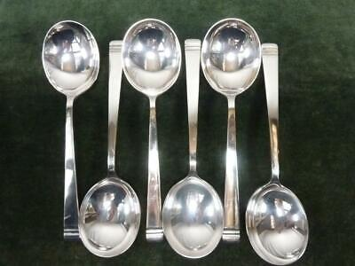 £19.99 • Buy 6 Nice Vintage Mappin Webb Soup Spoons Silver Plated Classic Pattern