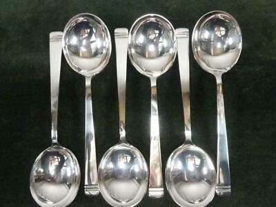 £19.99 • Buy 6 Nice Vintage Mappin Webb Soup Spoons Silver Plated Classic Pattern #1