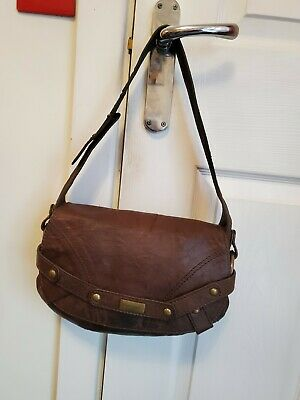 Coccinelle Softest Brown Leather Underarm Shoulder Bag • 12.95£