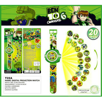 Fun Ben 10 Omnitrix Cartoon Figures 20 Projection Wrist Watch Kids Boy Girl Toy • 3.19£