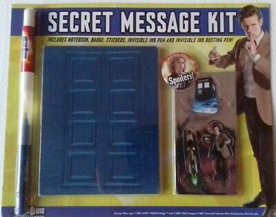 Doctor Who: Secret Message Kit (notebook, Invisible Ink Pen, Stickers, Badge) • 3.35£