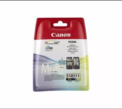 Canon Original PG-510 & CL-511 Ink Pack For PIXMA MP495 Printer • 27£