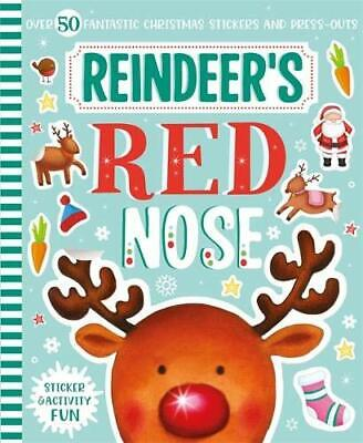 Reindeer's Red Nose Sticker & Activity Fun Kids Paperback Igloo Books 2020 NEW • 3.25£