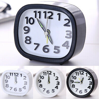 AU14.24 • Buy Quartz Alarm Small Clock Battery Operated Desk Bedside Bedroom Table Home Decor