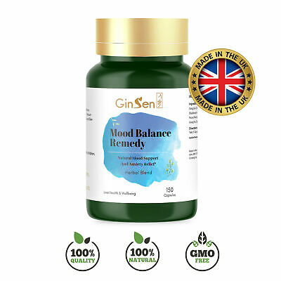 Mood Balance Remedy 150 Capsules  Anti Anxiety & Natural Stress Relief Tablet • 45£