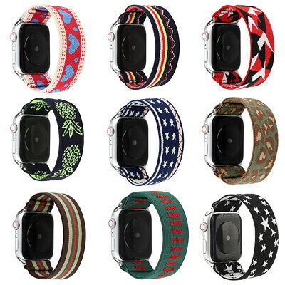 AU15.99 • Buy Elastic Apple Watch Band Strap For IWatch Series SE 6 5 4 3 2 1 38/40mm 42/44mm