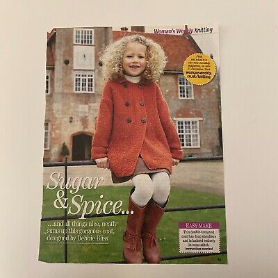 Debbie Bliss Blue Faced Leicester Dk 100% Wool Cardigan,large Child/small Adult • 55£