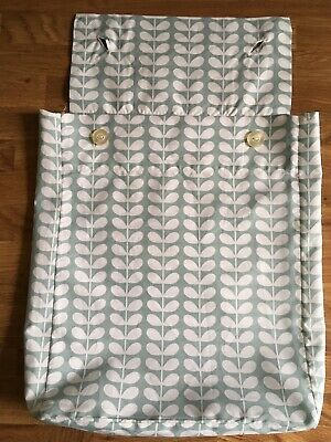 Orla Kiely Tiny Stem Duck Egg Storage Dust Bag For Bedding New Buttoned Cotton • 11.99£