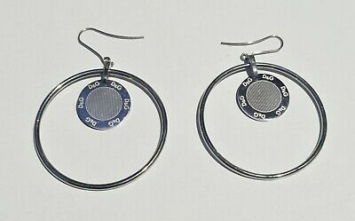 £99.99 • Buy Dolce And Gabbana D&G Hoop Earrings - Authentic