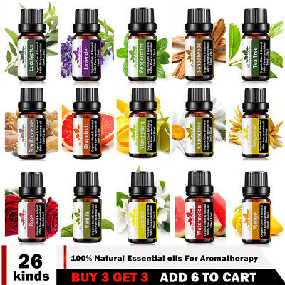 AU9.88 • Buy Natural & Pure Aromatherapy Essential Oils 10ml Essential Oil Diffuser 100%