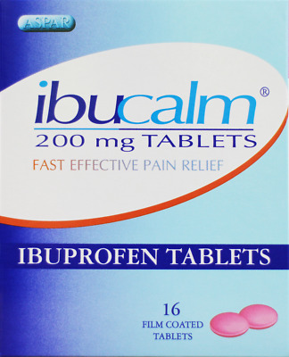 IBUPROFEN - IBUCALM 200mg FAST EFFECTIVE PAIN RELIEF TABLETS | Pack Of 16 | • 1.95£