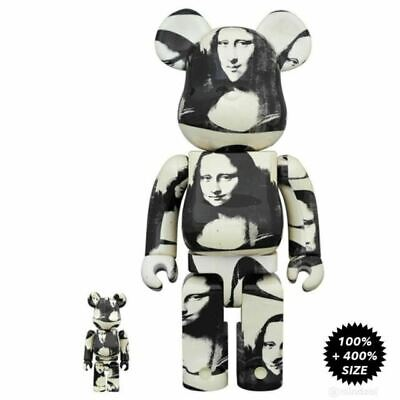 $350 • Buy Andy Warhol Double Mona Lisa - Medicom Be@rbrick 100% + 400% Set - Bearbrick
