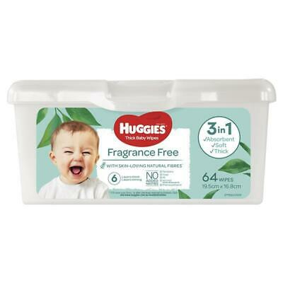 AU4.99 • Buy Huggies Baby Wipes Fragrance Free 64 Pack Tub
