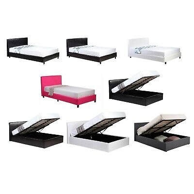 £159.99 • Buy 3ft 4ft 4ft6 5ft Low Frame | Ottoman Storage Bed Black Brown White Grey Hot Pink