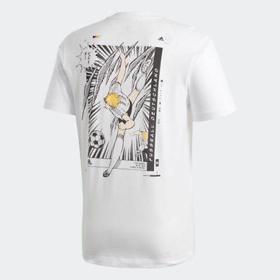 Tsubasa Germany Football Tee - Brand New With Tags - White, Size L • 9.99£